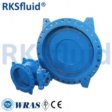 Good quality water treatment double flange eccentric resilient seated butterfly valve