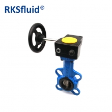 Grooved butterfly valve with tamper switch gearbox