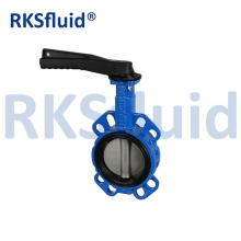 China Hand operated cast iron butterfly valve no pin without pin factory