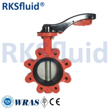 China Manual operation lug type butterfly valve with hand lever or gearbox for water oil pipeline factory