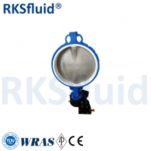China PN16 CF8 PTFE wafer butterfly valve CF8M Body PTFE lined Butterfly Valve factory