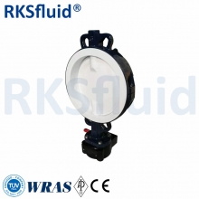PTFE Rubber Wafer Type Ductile Iron Material Pneumatic Butterfly Valve