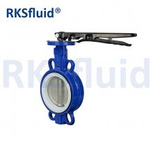 China PTFE seat lined gearbox full bore butterfly valve factory