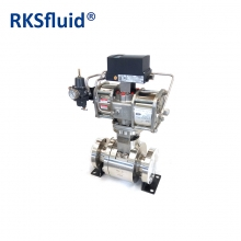 China Pneumatic actuator hard sealing floating ball valve factory