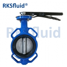 China RKS DN100 stainless steel wafer butterfly valve factory