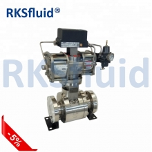 China RKS high temperature hard seal floating ball valve factory