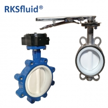 China china low cheap price Acid Base corrosion chemical application ptfe lined butterfly valve factory