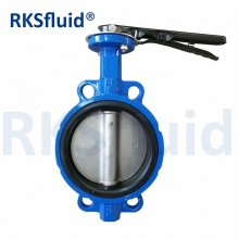 China Resilient epdm seated handle wafer centered bfv disc 3 in butterfly valve price factory