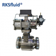China SS316 hard seal high temperature pressure pneumatic actuator floating ball valve factory