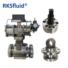 China SS316 high pressure high temperature metal seal air operated float ball valve factory