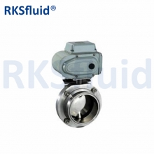 Stainless steel 304 316 clamp / screw sanitary butterfly valve