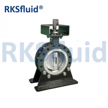 China Triple eccentric bias butterfly valve factory