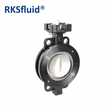 China High performance pneumatic wafer type butterfly valve factory