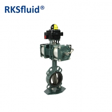 China Pneumatic actuator stainless steel disc resilient seat butterfly valve factory