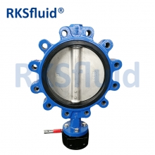 China ss304 ss316 Lug Type Shaft Cast Iron Butterfly Valve factory