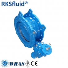 water treatment double flange eccentric butterfly valve